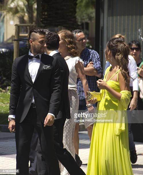 Guests attend the wedding of Juventus football player Fernando Llorente and Maria Lorente at Santa Maria del Coro Basilica on June 20 2015 in San...