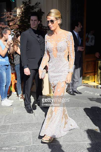 Guests attend the Wedding Of Kim Kardashian And Kanye West In Florence at Four Season Hotel on May 24 2014 in Florence Italy