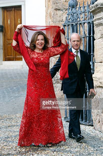 Guests attend the wedding of Lady Charlotte and Alejandro Santo Domingo on May 28, 2016 in Granada, Spain.