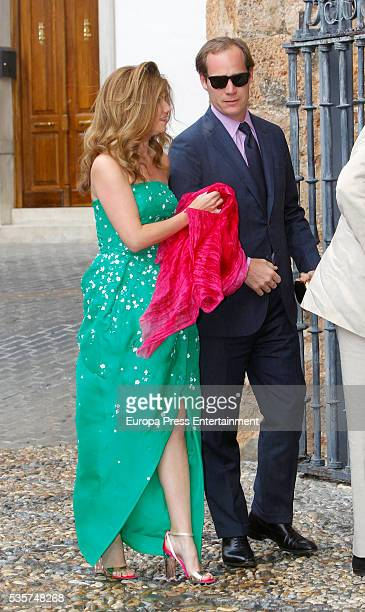Guests attend the wedding of Lady Charlotte and Alejandro Santo Domingo on May 28 2016 in Granada Spain