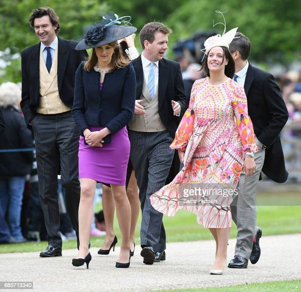 Guests attend the wedding of Pippa Middleton and James Matthews at St Mark's Church on May 20 2017 in Englefield Green England
