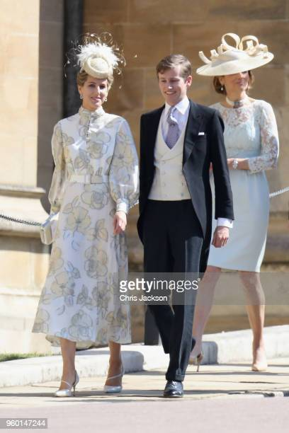 Guests attend the wedding of Prince Harry to Ms Meghan Markle at St George's Chapel Windsor Castle on May 19 2018 in Windsor England Prince Henry...