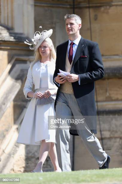 Guests attend the wedding of Prince Harry to Ms Meghan Markle at St George's Chapel, Windsor Castle on May 19, 2018 in Windsor, England. Prince Henry...