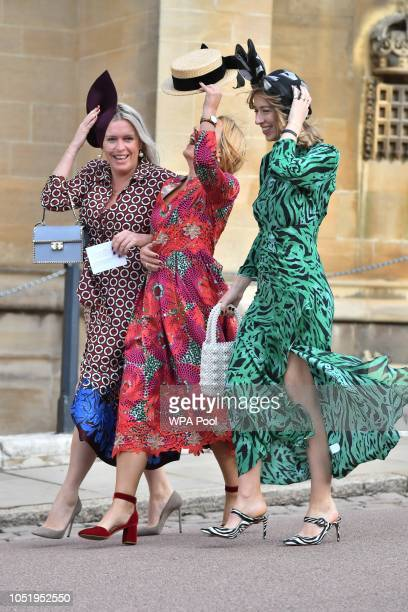 Guests attend the wedding of Princess Eugenie of York to Jack Brooksbank at St George's Chapel on October 12 2018 in Windsor England Photo by