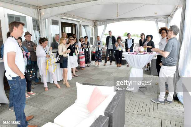 Guests attend the WGA Meet Greet at the 2018 Nantucket Film Festival Day 5 on June 24 2018 in Nantucket Massachusetts