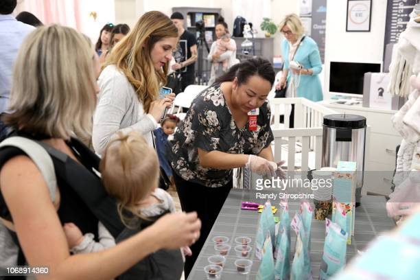 Guests attend the Whitney Port Bundle Organics #MomAsYouAre buybuyBABY product launch on November 17 2018 in Torrance California on November 17 2018...
