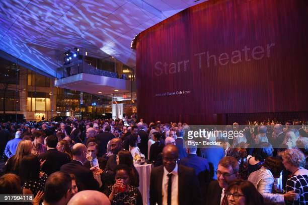 Guests attend the Winter Gala at Lincoln Center at Alice Tully Hall on February 13 2018 in New York City