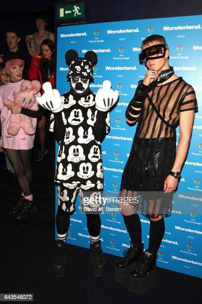 Guests attend the Wonderland Magazine x Google Pixel party at Tramp on February 21 2017 in London England