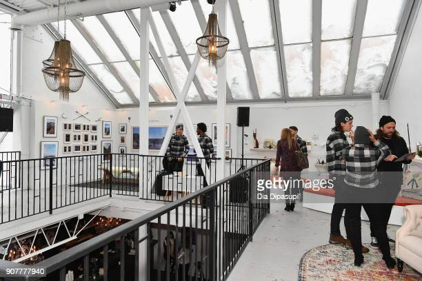 Guests attend the YouTube Studio for the Respect Rally Park City Post Reception at the YouTube House on January 20 2018 in Park City Utah