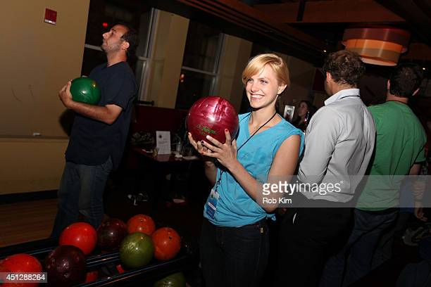 Guests attend TJ Martell Foundation's NY Bowling Bash Chaired by DJ Sean Glass at Bowlmor Times Square on June 26 2014 in New York City