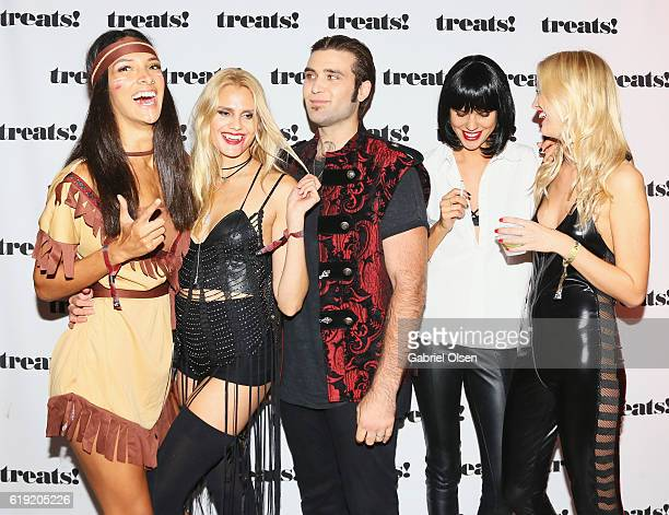 Guests attend Trick or treats The 6th Annual treats Magazine Halloween Party Sponsored by Absolut Elyx on October 29 2016 in Los Angeles California