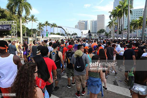 Guests attend Ultra Music Festival 2016 on March 18 2016 in Miami Florida
