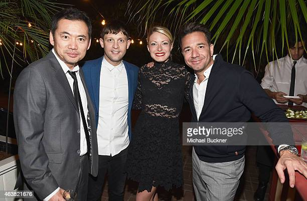 Guests attend VANITY FAIR and Barneys New York Dinner benefiting OXFAM hosted by Rooney Mara at Chateau Marmont on February 18 2015 in Los Angeles...