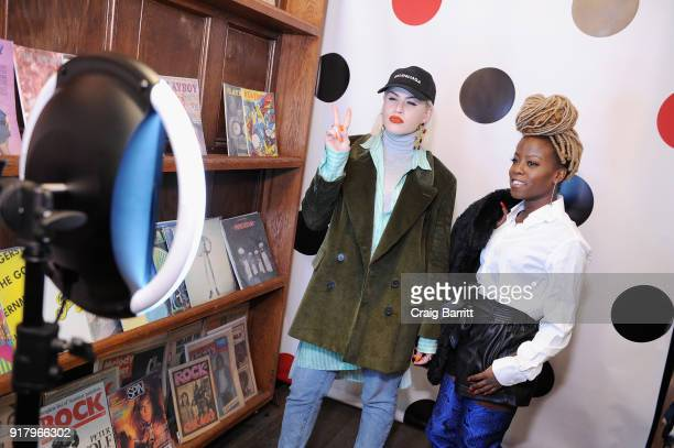 Guests attend Vintage For The Future A Norma Kamali Retrospective by What Goes Around Comes Around on February 13 2018 in New York City