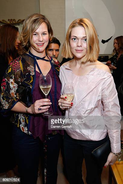 Guests attend Vogue Voice of a Century launch at Matches Fashion on September 20, 2016 in London, England.
