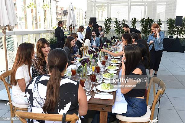 Guests attend W Hotels Barneys New York and the CFDA join Taylor Tomasi Hill in Hosting a Brunch for Sara Beltran of Dezso at W Hollywood on October...