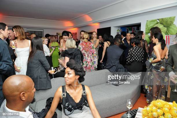 Guests attend W Magazine's Celebration of its 'Best Performances' Portfolio and the Golden Globes with Audi Dior and Dom Perignon at Chateau Marmont...