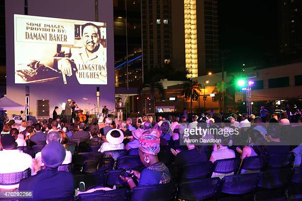 Guests attend YoungArts Presents Outside The Box: The Langston Hughes Project at YoungArts Campus on April 18, 2015 in Miami, Florida.