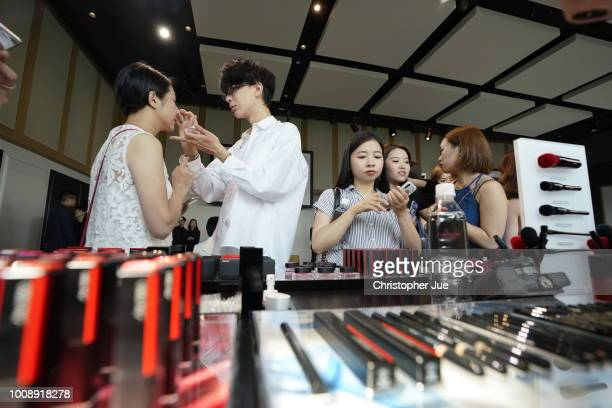 Guests attending the Shiseido Masterclass with Patrick Ta on August 1 2018 in Tokyo Japan