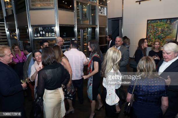 Guests attends Art Miami 2018 Lifetime Visionary Award Dinner Honoring Dennis Debra Scholl at Boulud Sud Miami on December 6 2018 in Miami Florida