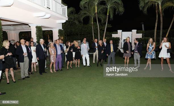 Guests attends ASPCA Palm Beach Cocktails and Conversation hosted by Arriana and Dixon Boardman on February 2 2017 in Palm Beach Florida