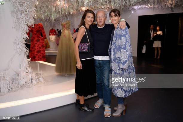 Guests attends 'Christian Dior couturier du reve' Exhibition Launch celebrating 70 years of creation at Musee Des Arts Decoratifs on July 3 2017 in...