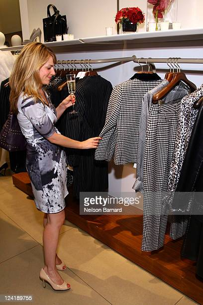 A guests attends Ferragamo's Black And White Fete to celebrate Fashions Night Out at Salvatore Ferragamo on September 8 2011 in New York City