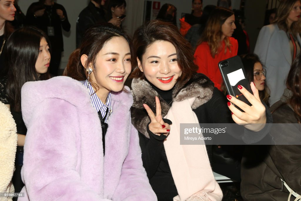 Guests attends the Lanyu front row during New York Fashion Week: The Shows at Industria Studios on February 8, 2018 in New York City.