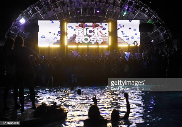 Guests attends the official Eclipse launch party hosted by rapper Rick Ross at Daylight Beach Club at the Mandalay Bay Resort and Casino on April 21...