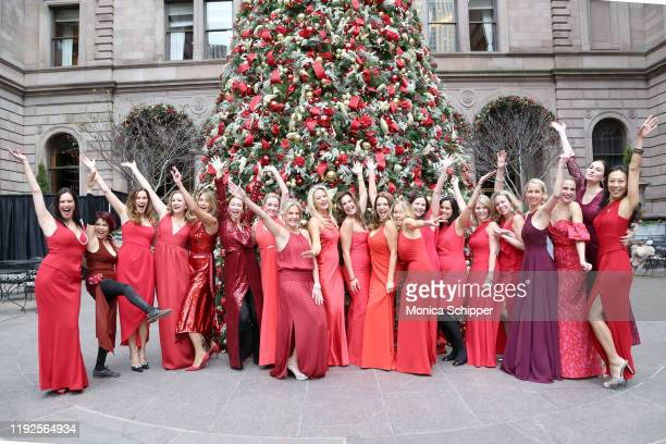 Guests attends the Rhonda Vetere Ladies in Red Gala on December 07 2019 in New York City