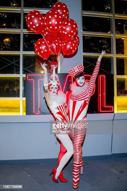 Guests attends the Susanne Bartsch and David Barton's Toy Drive at TMPL West Village at TMPL West Village on December 14 2018 in New York City