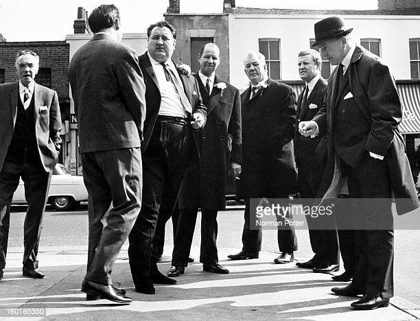 Guests awaiting the arrival of bride Frances Shea before her wedding to British gangster Reggie Kray London April 1965