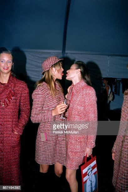 Guests backstage at the Chanel fashion show on July 28 2001