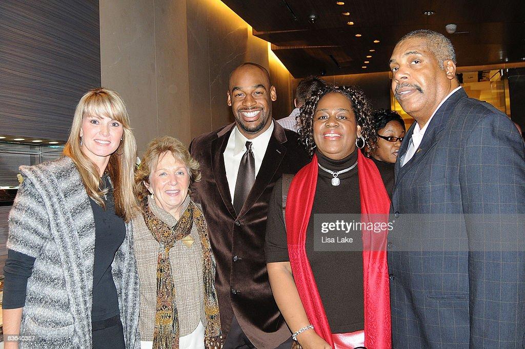 Guests Beth Maffei Cheryl Johnson With Mcnabb Family Donovan