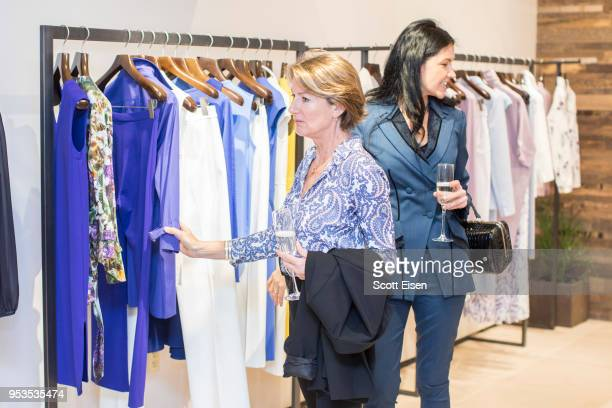 Guests browse items as Max Mara celebrates Boston ICA's Watershed Gala on May 1 2018 in Boston Massachusetts