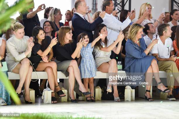 Guests Carine Roitfeld Julia Restoin Roitfeld MarieSabine Leclercq Aaron Young attend the Bonpoint Haute Couture Fall/Winter 20182019 show as part of...