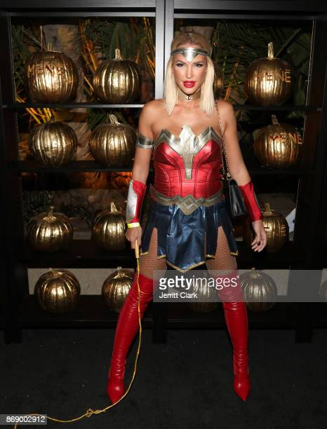 Guests celebrate during Darren Dzienciol and Alessandra Ambrosio's Halloween Bash on October 31 2017 in Los Angeles California