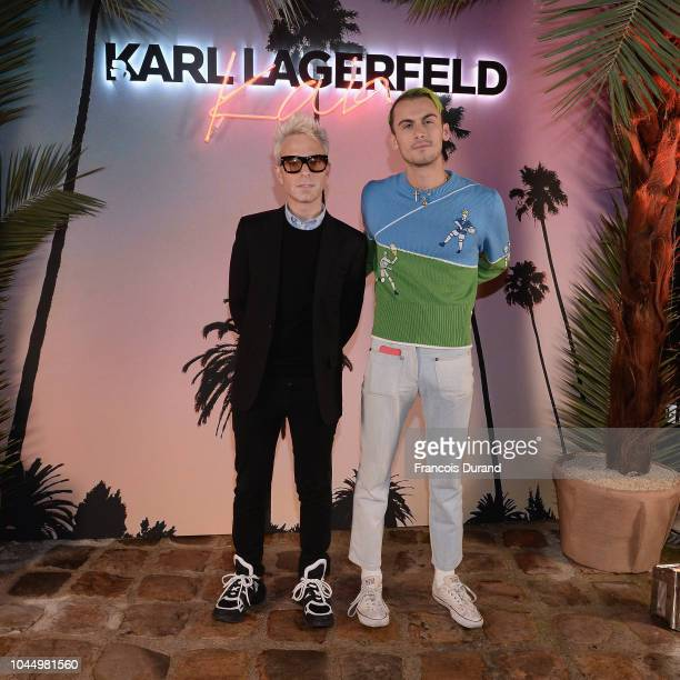 Guests celebrate the launch of the Karl x Kaia collaboration capsule collection on October 2 2018 in Paris France