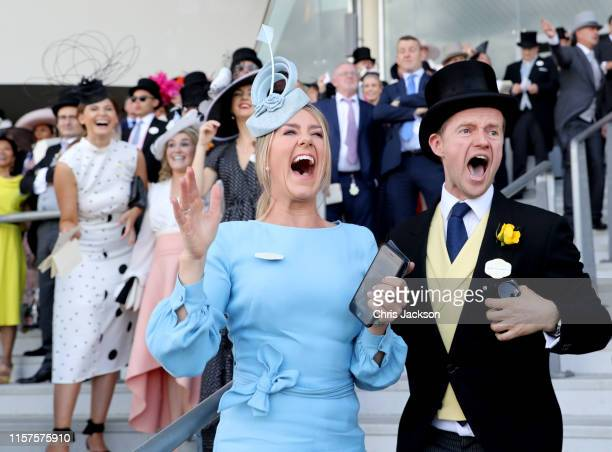 Guests celebrates on day five of Royal Ascot at Ascot Racecourse on June 22, 2019 in Ascot, England.