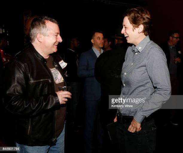 Guests chat at a town hall event held at The Chapel on September 11 2017 in San Francisco California hosted by the San Francisco Chapter Advocacy of...
