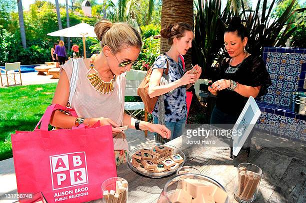 Guests check out the summer lineup of makeup from Stila at Alison Brod Public Relations Los Angeles Summer Style Event on June 15 2011 in Beverly...