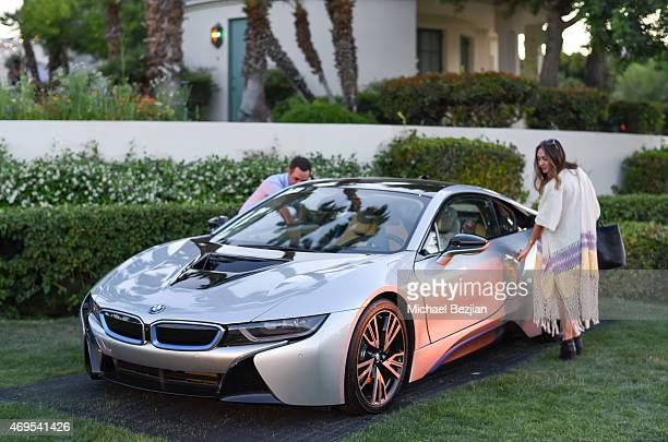 Guests checking out BMW at Soho Desert House on April 12, 2015 in La Quinta, California.