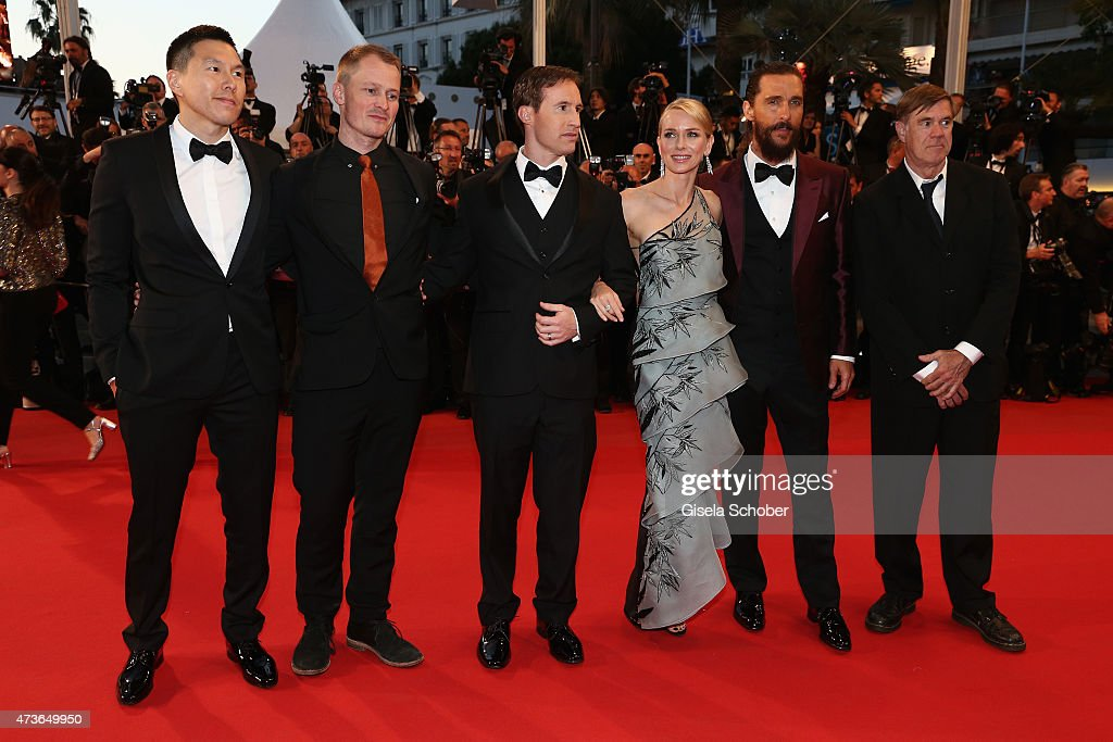Guests, Chris Sparling,Naomi Watts,Matthew McConaughey and Gus Van Sant attend the Premiere of 'The Sea Of Trees' during the 68th annual Cannes Film Festival on May 16, 2015 in Cannes, France.