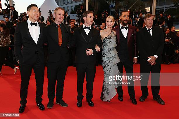 Guests Chris SparlingNaomi WattsMatthew McConaughey and Gus Van Sant attend the Premiere of 'The Sea Of Trees' during the 68th annual Cannes Film...