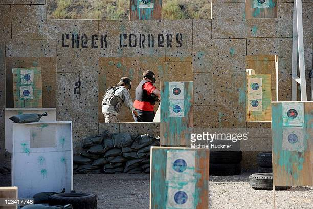 Guests compete in a paintball tournament during the FirstEver Call of Duty XP at the Stages at Playa Vista on September 2 2011 in Los Angeles...
