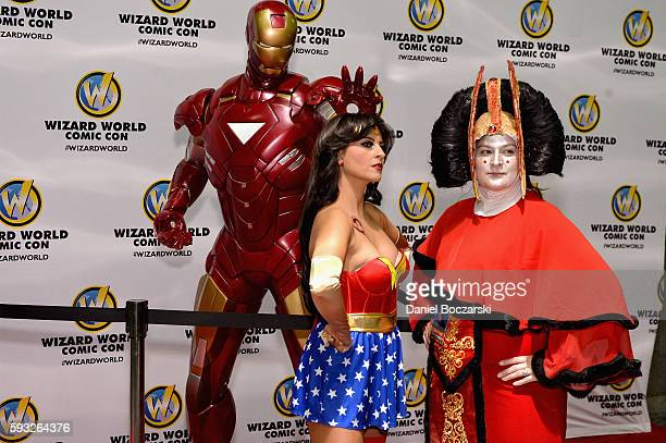 Guests cosplay during Wizard World Comic Con Chicago 2016 Day 4 at Donald E Stephens Convention Center on August 21 2016 in Rosemont Illinois