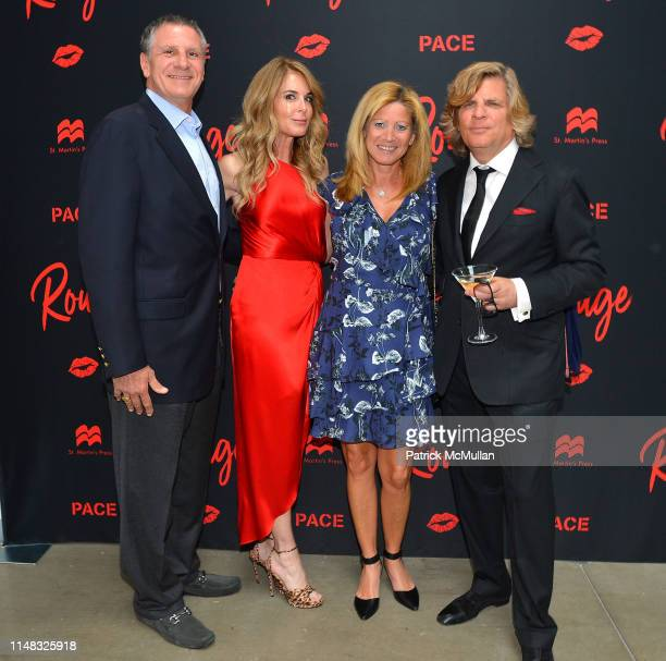 Guests Dana Kirshenbaum and Richard Kirshenbaum attend Richard Kirshenbaum's Book Party ROUGE at Pace Gallery on June 5 2019 in New York City