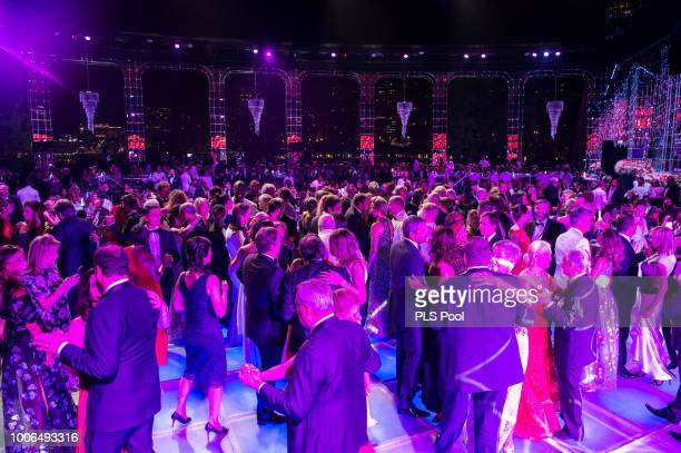 Guests dance during the 70th Monaco Red Cross Ball Gala on July 27 2018 in MonteCarlo Monaco