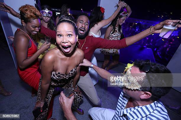 Guests dance during the Estate 101 AllInclusive Carnival Fete as part of Trinidad and Tobago Carnival on February 06 2016 in Maraval Trinidad