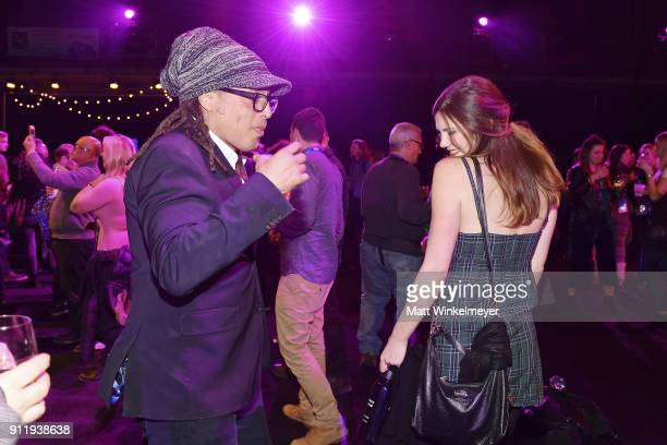 Guests dance during the Sundance Film Festival Awards Night Party at Basin Recreation Field House on January 27 2018 in Park City Utah